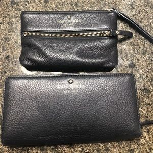Kate spade wallet and wristlet bundle black
